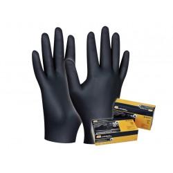 Pracovné rukavice GEBOL Black Nitril č. M - 80ks