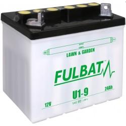 Batéria FullBat 12V-24Ah - suchá / + vľavo